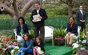 Obamas at White House Easter Egg Roll 4-13-09 1