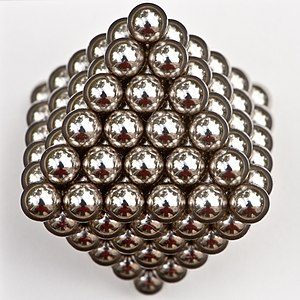 Octahedral number - 146 magnetic balls, packed in the form of an octahedron