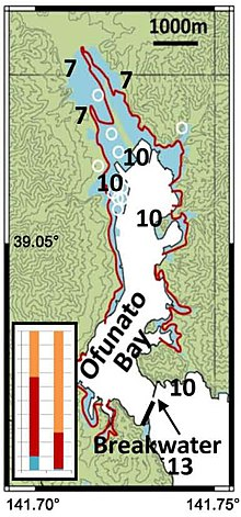 Ofunato Inundation areas of the 2011 Great East Japan Earthquake Ando et al 2013.jpg