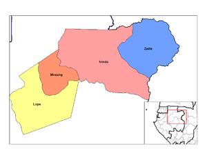 Departments of Gabon - Departments of Ogooué-Ivindo
