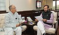 Okram Ibobi Singh meeting the Minister of State for Information and Broadcasting (Independent Charge), Environment, Forest and Climate Change (Independent Charge) and Parliamentary Affairs, Shri Prakash Javadekar (1).jpg