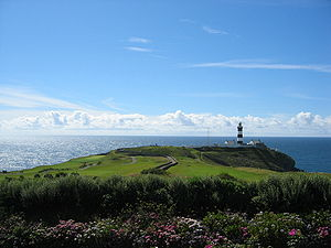 Old Head of Kinsale - The lighthouse and a portion of the Old Head Golf Links
