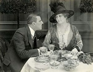 Old Wives for New - Gustav von Seyffertitz and Sylvia Ashton in Old Wives for New