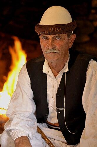 Qeleshe - Old man of Has of Prizren wearing a qeleshe