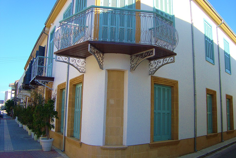 Old traditional aristocratic building in Nicosia Republic of Cyprus
