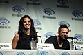 Olivia Munn and Joel McHale 2014 WonderCon.jpg