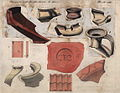 Opgraving Romeinse villa Backerbosch, 1881, aardewerk- en dakpanfragmenten met inscriptie.jpg