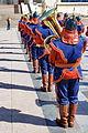 Orkiestra mongolskiej armii na placu Suche Batora w Ułan Bator 08.JPG
