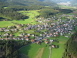 Aerial photograph of Wiesenbach (2007)