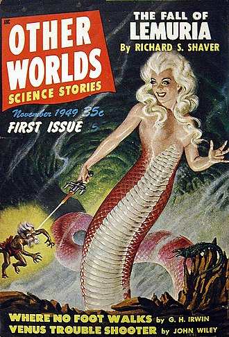 Other Worlds, Universe Science Fiction, and Science Stories - The first issue of Other Worlds; cover art by Malcolm Smith