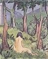 Otto Mueller - Sitzender Akt unter Bäumen - ca1920.jpeg