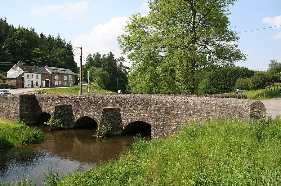 Our (Opont)  (Belgium), the old bridge crossing the Our river in the northern part of the hamlet.