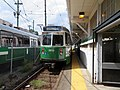Outbound train leaving Lechmere station, August 2018.JPG