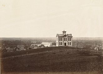 Mount Oread - Image: Overlooking Lawerence and the Kansas River. (Boston Public Library) (cropped)
