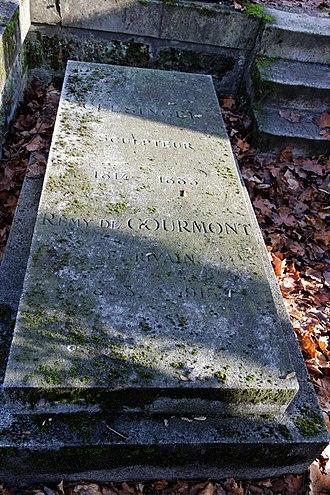 Berthe de Courrière - Tomb of Auguste Clésinger, Remy de Gourmont and Berthe de Courrière