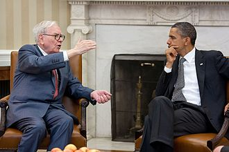 Warren Buffett - Buffett meets with President Barack Obama at the White House in July 2011