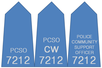 Police ranks of the United Kingdom - Variations of PCSO epaulettes varying between forces