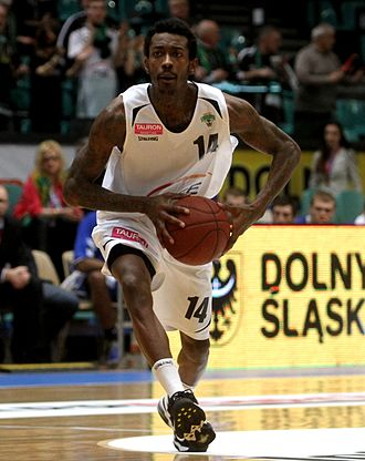 Mike Taylor (basketball) - Taylor playing for Turów Zgorzelec in 2014