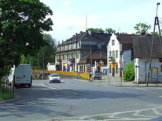 Brwinów - Buildings near railway station