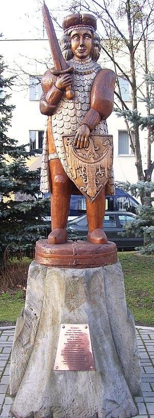 Przemko of Ścinawa - Przemko's monument in Przemków.