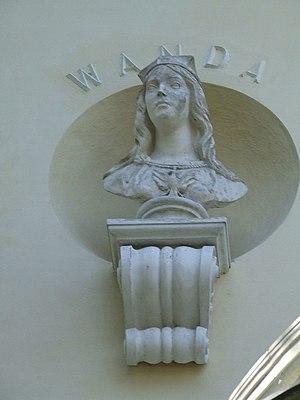 Princess Wanda - Queen Wanda's bust in the Krasiński's Palace, Ursynów.