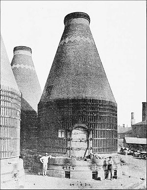 Perth Amboy, New Jersey - Three kilns at the Perth Amboy Terra Cotta Company