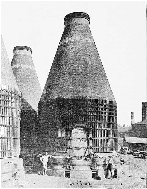 PSM V40 D330 Three kilns at the perth amboy terra cotta company.jpg
