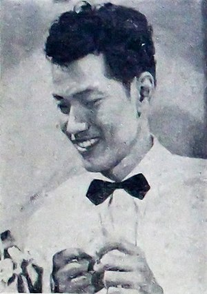 P. Ramlee - P. Ramlee in a promotional still, 1954.