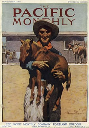The Pacific Monthly - The Pacific Monthly from November 1911. Cover illustration by Maynard Dixon.