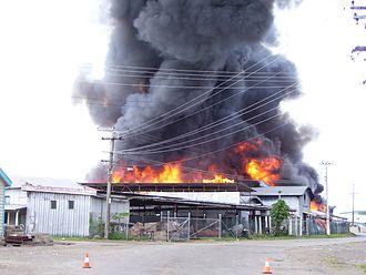 Levuka - Fire destroys Pafco's Freezer Plant