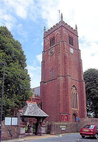Paignton - St John the Baptist, The oldest of the five Parish Churches in Paignton. The tower was built c. 1327 and 1438