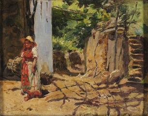 Paisagem com camponesa