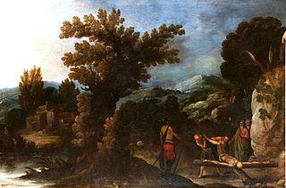 Paisaje con la crucifixión de San Pedro