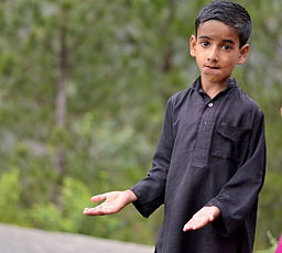 Pakistani boy with empty hands (2011)