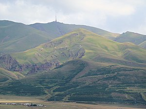 Palandöken Mountain - Palandöken in August 2009, as seen from downtown Erzurum