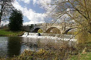 Brocket Hall - Palladian bridge at Brocket Hall