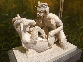 Secret Museum, Naples - 'Pan copulating with goat' - one of the most famous objects in the Naples Museum collection