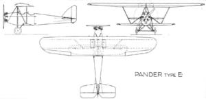 Pander E - First prototype, Anzani engine