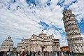 Panoramic view of Piazza dei Miracoli (-Square of Miracles-). Pisa, Tuscany, Central Italy.jpg