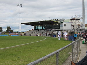 Hickinbotham Oval - The Jim Deane Grandstand at Hickinbotham Oval