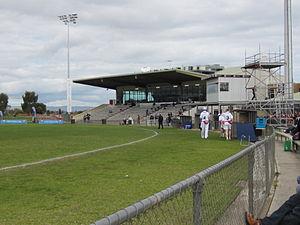 Hickinbotham Oval - The Jim Deane Grandstand at Hickinbotham Oval