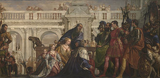The Family of Darius before Alexander - The Family of Darius before Alexander (1565–1570), Paolo Veronese. Oil on canvas, 236.2cm × 475.9 cm, National Gallery, London.