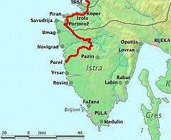 Linia Kolejowa Triest Porec Wikipedia Wolna Encyklopedia