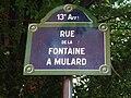 Paris 13e - rue de la Fontaine-à-Mulard - plaque.jpg
