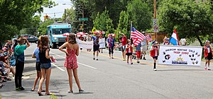 Park Hill, Denver - The annual Fourth of July parade along 23rd Avenue.
