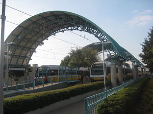Parker Road station - The main tracks and platforms at Parker Road Station.