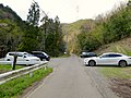 Parking lot for visitor going to Sarubami castle observation tower.jpg