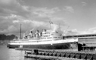 Canadian National Railway - The turbine steamship Prince Robert berthed at Vancouver, BC