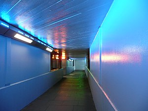 Cardboard City (London) - The underpass between Waterloo Bridge and the Bullring roundabout in 2009, previously the site of Cardboard City