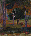 Paul Gauguin - Landscape with a Pig and a Horse (Hiva Oa) - Google Art Project.jpg